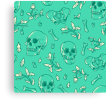 Bones and Leaves Canvas Print