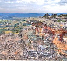 I Rock- Hassans Walls Lookout - Blue Mountains - The HDR Experience by Philip Johnson