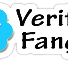 """Verified Fangirl"" Sticker"