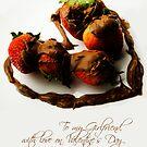 Chocolate Strawberry Valentine's Card - Girlfriend by -raggle-