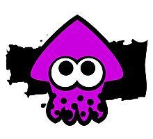 Splatoon Squid (Purple) Photographic Print