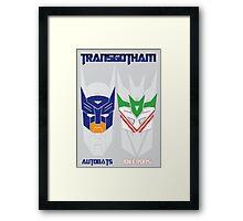 Batman and Transformers - TransGotham Framed Print