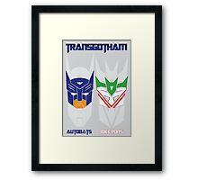 Batman and Transformers - TransGotham Framed Print