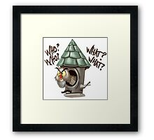 Archimedes Who Who What What? Framed Print
