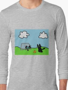 Kitten's Soccer Practice Long Sleeve T-Shirt
