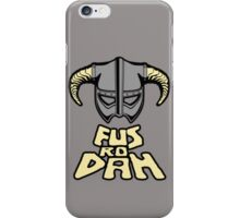 FUS RO DAH SKYRIM PRODUCTS iPhone Case/Skin