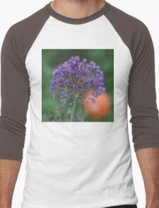 Purple Sun Burst! Men's Baseball ¾ T-Shirt