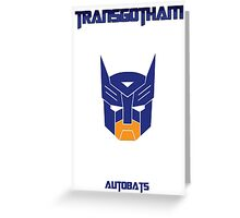 Batman and Transformers - Autobats Greeting Card