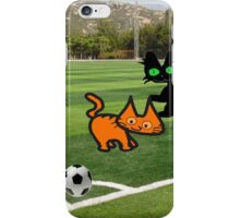 Cats Play Soccer iPhone Case/Skin