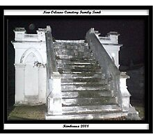 Old Family Tomb in New Orleans Photographic Print