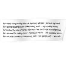 Money Affirmations Poster