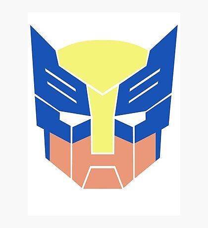 Wolverine Transformers Retro Style Photographic Print