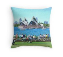 Celebrating Australia Day Throw Pillow