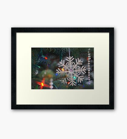 Stary Snow Flake. Framed Print