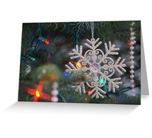 Stary Snow Flake. Greeting Card