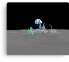 Kitten's Moon Chase Game  Canvas Print