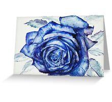 Blue Rose Greeting Card
