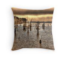 Lake Erling Stumps Throw Pillow