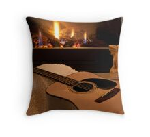 Its Good to Warm my Tones Beside the Fire Throw Pillow
