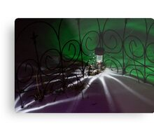 Spider Light in the Snow? Metal Print