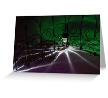 Spider Light in the Snow? Greeting Card