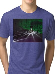 Spider Light in the Snow? Tri-blend T-Shirt