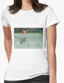 Tennis Cats Womens Fitted T-Shirt
