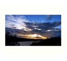 Deception Pass Sunset Art Print
