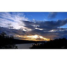 Deception Pass Sunset Photographic Print