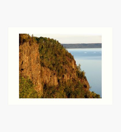 Red Rocks at Nipigon Bay Art Print