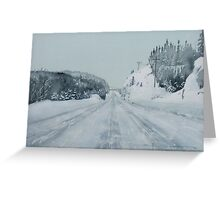 The Cold Road Home Greeting Card