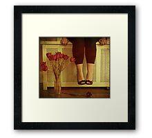 fifteen tulips Framed Print