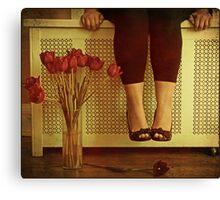 fifteen tulips Canvas Print