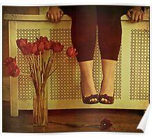 fifteen tulips Poster