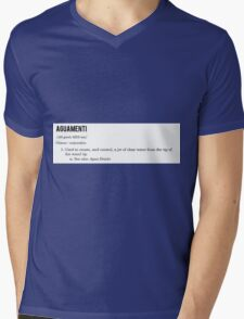 Aguamenti (spell) Mens V-Neck T-Shirt