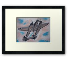 p38 Lightning -- WWII Fighter Framed Print