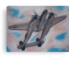 p38 Lightning -- WWII Fighter Canvas Print