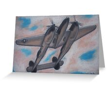 p38 Lightning -- WWII Fighter Greeting Card
