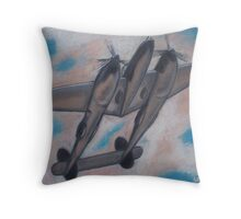 p38 Lightning -- WWII Fighter Throw Pillow
