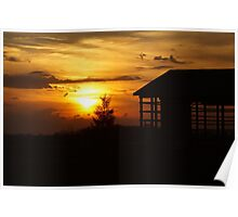 Sunset & Wood Poster