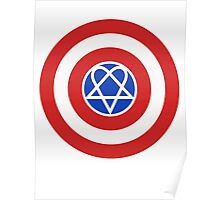 Captain America HIM Heartagram Poster