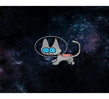 Blue Eyed Cat In Space Photographic Print