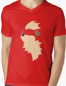 Growlithe Mens V-Neck T-Shirt