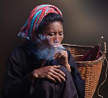 CHEROOT - INLE LAKE by Michael Sheridan
