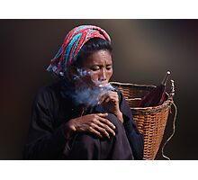 CHEROOT - INLE LAKE Photographic Print