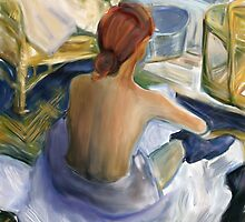 La Toilette /Homage to Toulouse Lautrec  by bev langby