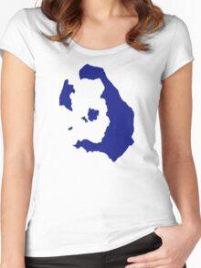 Santorin greece Women's Fitted Scoop T-Shirt