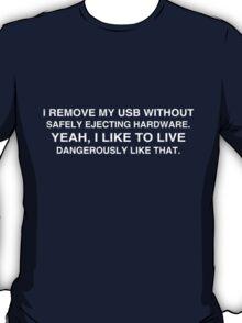 Living Dangerously: USB T-Shirt