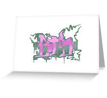 BTS Boy in Luv Graffiti Greeting Card