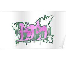 BTS Boy in Luv Graffiti Poster